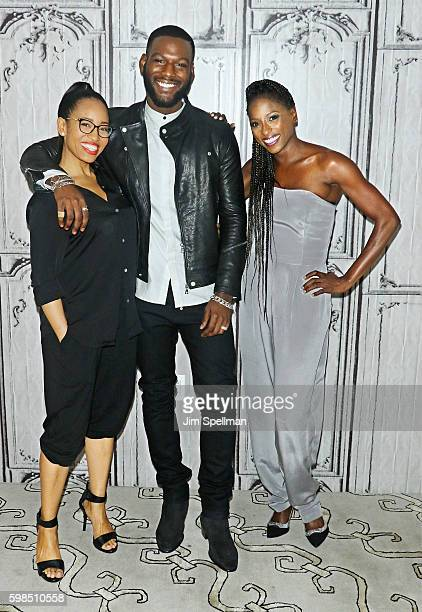 Actors DawnLyen Gardner Kofi Siriboe and Rutina Wesley attend the BUILD Series Presents Rutina Wesley DawnLyen Gardner and Kofi Siriboe to discuss...