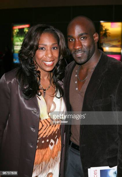 Actors Dawnn Lewis and David St Louis pose during the arrivals for the opening night performance of Alfred Hitchcock's The 39 Steps at the Center...