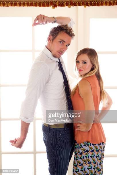 Actors Dax Shepard and Kristen Bell are photographed for USA Today on August 22 2012 in Los Angeles California