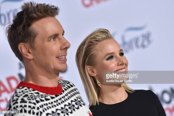 Actors Dax Shepard and Kristen Bell arrive at the Los Angeles premiere of 'A Bad Moms Christmas' at Regency Village Theatre on October 30 2017 in...
