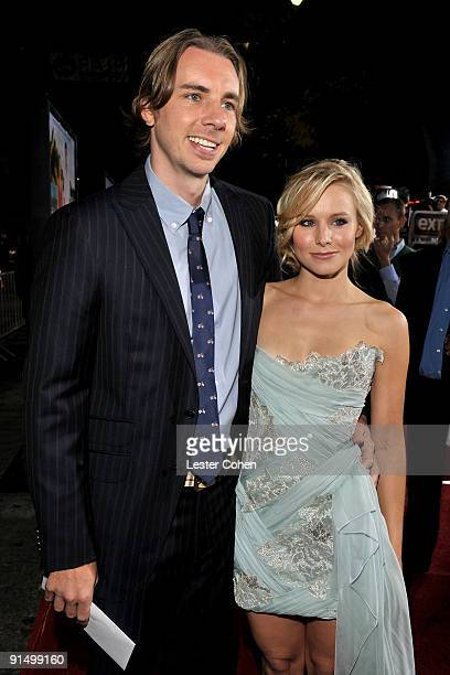 Actors Dax Shepard and Kristen Bell arrive at the Los Angeles premiere of Couples Retreat held the Mann's Village Theatre on October 5 2009 in...