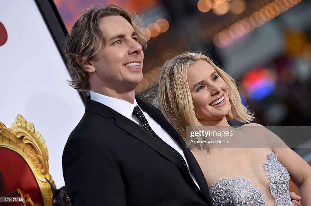 Actors Dax Shepard and Kristen Bell arrive at the premiere of USA Pictures' 'The Boss' at Regency Village Theatre on March 28, 2016 in Westwood, California