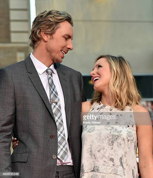 Actors Dax Shepard and Kristen Bell arrive at the premiere of Warner Bros Pictures' This Is Where I Leave You at TCL Chinese Theatre on September 15...