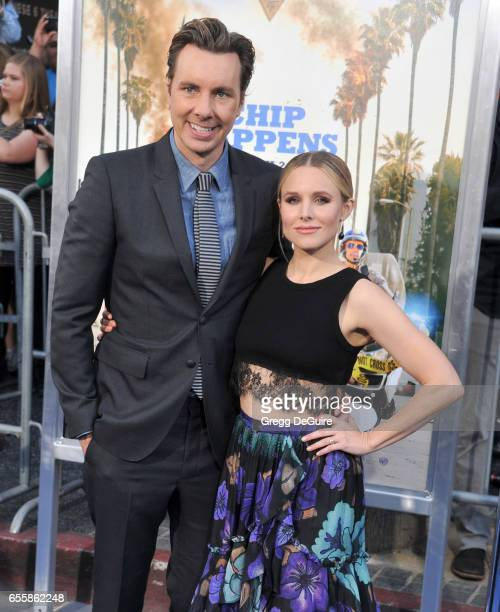 Actors Dax Shepard and Kristen Bell arrive at the premiere of Warner Bros Pictures' CHiPS at TCL Chinese Theatre on March 20 2017 in Hollywood...