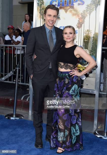 Actors Dax Shepard and Kristen Bell arrive at the premiere of Warner Bros Pictures' 'CHIPS' at TCL Chinese Theatre on March 20 2017 in Hollywood...