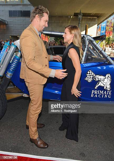 Actors Dax Shepard and Kristen Bell arrive to the premiere of Open Road Films' Hit and Run on August 14 2012 in Los Angeles California