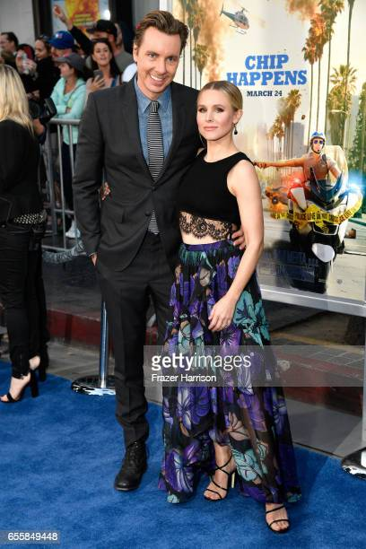 Actors Dax Shepard and Kristen Bell arrives at the Premiere Of Warner Bros Pictures' CHiPS at TCL Chinese Theatre on March 20 2017 in Hollywood...