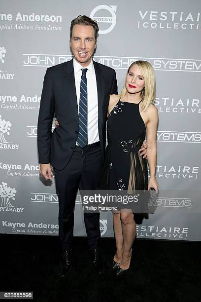 Actors Dax Shepard and Kristen Bell attend the 5th Annual Baby2Baby Gala at 3LABS on November 12 2016 in Culver City California