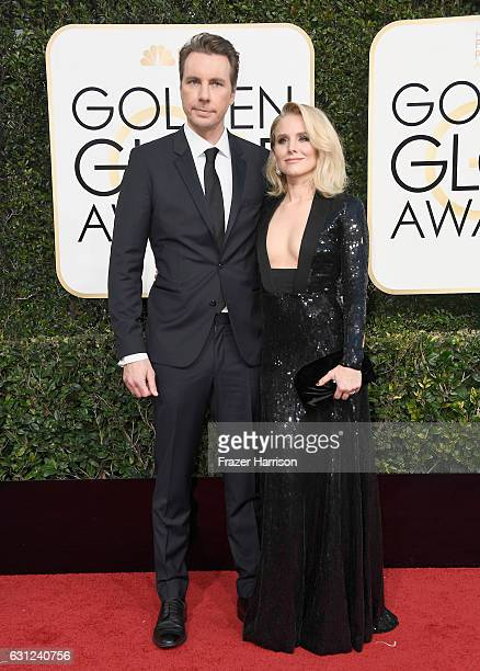 Actors Dax Shepard and Kristen Bell attend the 74th Annual Golden Globe Awards at The Beverly Hilton Hotel on January 8 2017 in Beverly Hills...
