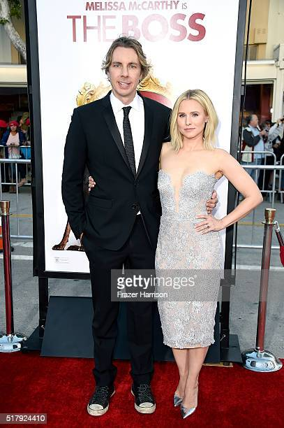 Actors Dax Shepard and Kristen Bell attend the premiere of USA Pictures' 'The Boss' at Regency Village Theatre on March 28 2016 in Westwood California