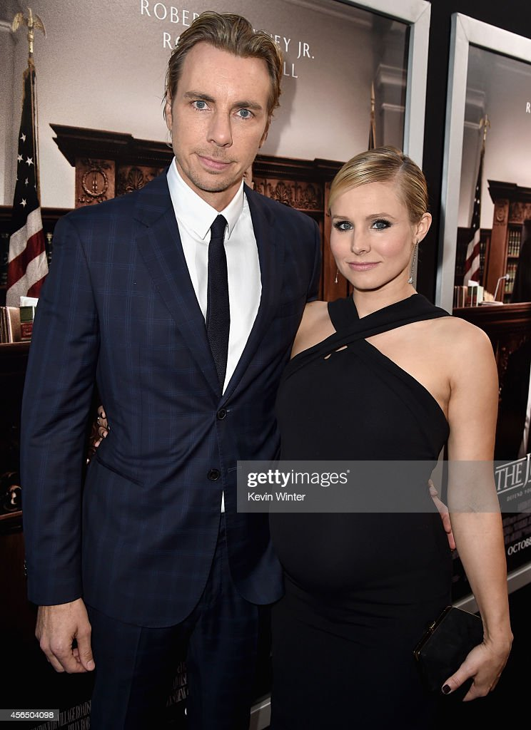 Actors Dax Shepard (L) and Kristen Bell attend the Premiere of Warner Bros. Pictures and Village Roadshow Pictures' 'The Judge' at AMPAS Samuel Goldwyn Theater on October 1, 2014 in Beverly Hills, California.