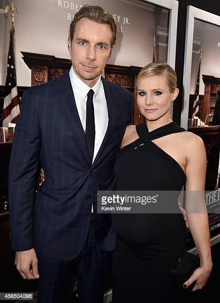 """Actors Dax Shepard and Kristen Bell attend the Premiere of Warner Bros. Pictures and Village Roadshow Pictures' """"The Judge"""" at AMPAS Samuel Goldwyn..."""