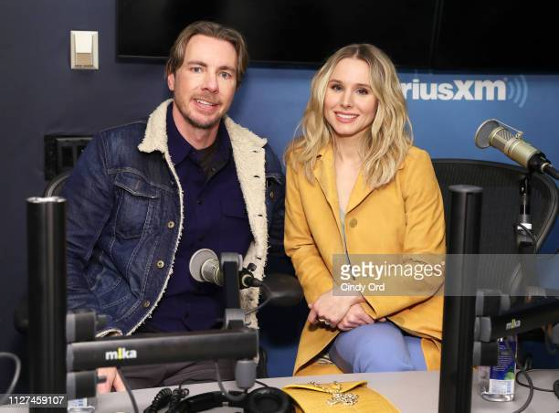 Actors Dax Shepard and Kristen Bell visit the SiriusXM Studios on February 25 2019 in New York City