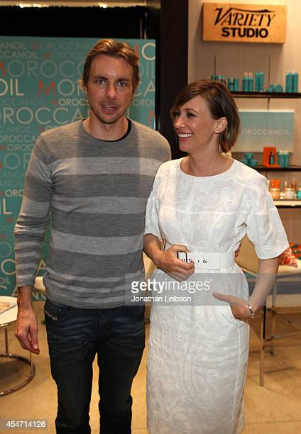 Actors Dax Shepard and Vera Farmiga attend the Variety Studio presented by Moroccanoil at Holt Renfrew during the 2014 Toronto International Film...