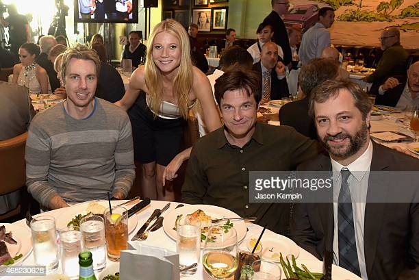 Actors Dax Shepard Gwyneth Paltrow Jason Bateman and producer Judd Apatow attend the Inaugural Los Angeles Fatherhood Lunch to Benefit Baby Buggy...