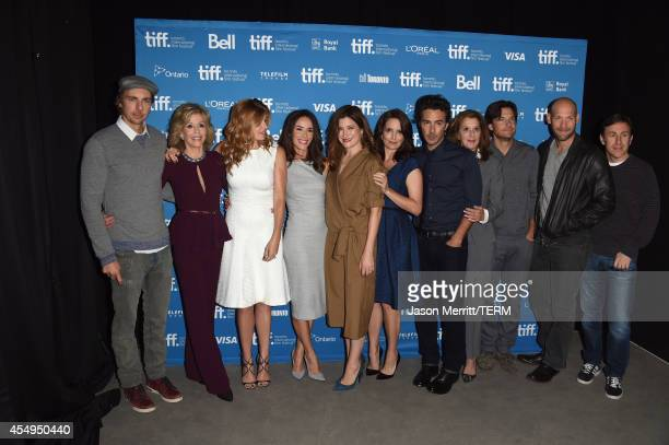 Actors Dax Shepard, Jane Fonda, Connie Britton, Abigail Spencer, Kathryn Hahn, Tina Fey, Director Shawn Levy, producer Paula Weinstein, actors Jason...