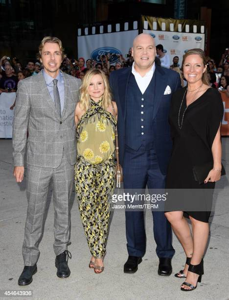 """Actors Dax Shepard, Kristen Bell, Vincent D'Onofrio and Carin van der Donk attend """"The Judge"""" premiere during the 2014 Toronto International Film..."""