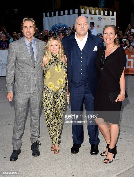 Actors Dax Shepard Kristen Bell Vincent D'Onofrio and Carin van der Donk attend The Judge premiere during the 2014 Toronto International Film...