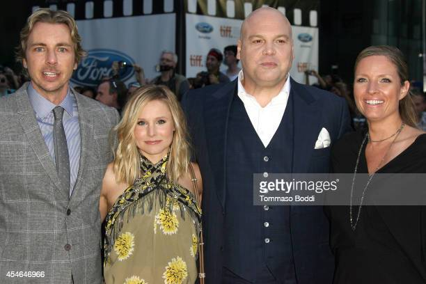 Actors Dax Shepard Kristen Bell Vincent D'Onofrio and Carin van der Donk attend The Judge premiere held at at Roy Thomson Hall on September 4 2014 in...