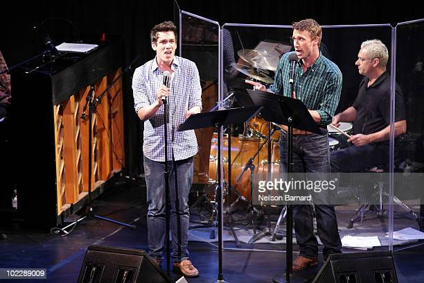 Actors DB Bonds and Preston Sadleir from the show Trails perform on stage at the 2010 New York Musical Theater Festival Best of the Fest Gala at New...
