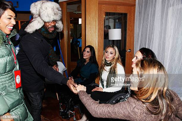 Actors De'Adre Aziza and Colman Domingo and Angela Rockwood Tiphany Adams Mia Schaikewitz and Auti Angel of Push Girls attends the Sundance Channel...