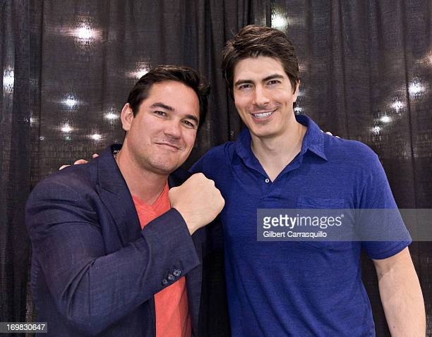 Actors Dean Cain and Brandon Routh attend Philadelphia Comic Con 2013 Day 4 at the Pennsylvania Convention Center on June 2 2013 in Philadelphia...