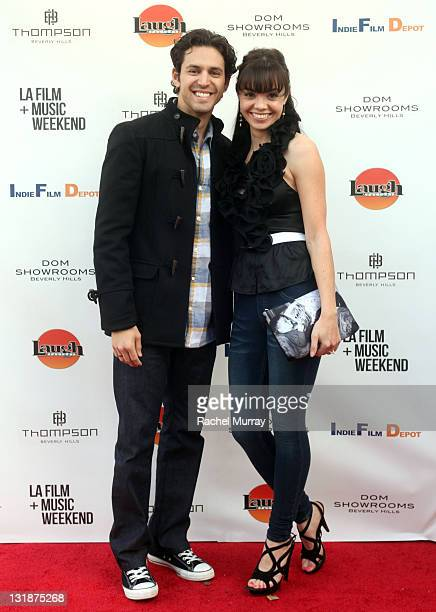 Actors Dean J West and Annemarie Pazmino attend 'Skyler' Premiere at Laemmle Music Hall during the 2011 LA Film and Music Weekend Festival on March...