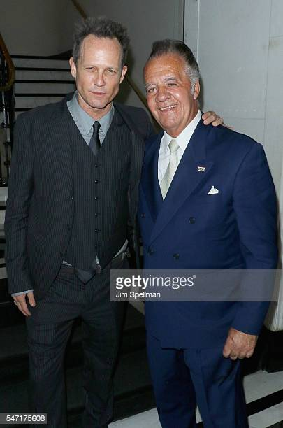 Actors Dean Winters and Tony Sirico attend the New York premiere after party for 'Cafe Society' hosted by Amazon Lionsgate with The Cinema Society at...
