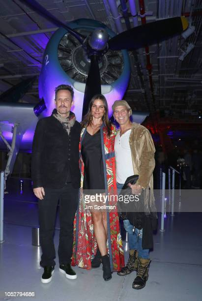 Actors Dean Winters Tara Westwood and guest attend the world premiere after party for Hunter Killer hosted by Lionsgate at Intrepid SeaAirSpace...
