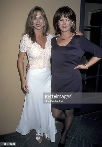 Actors Debbe Dunning and Patricia Richardson attend the Wrap Party for the 100th Episode of 'Home Improvement' on April 6 1995 at Walt Disney Studios...
