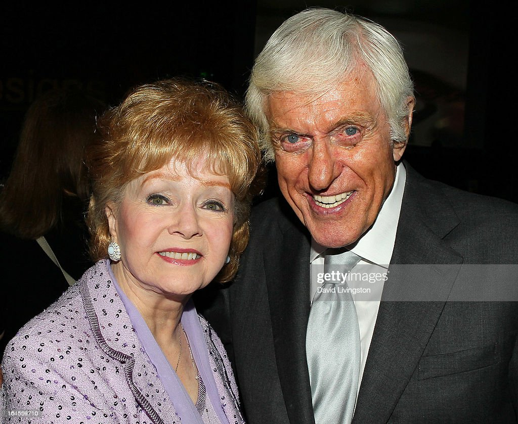 Actors Debbie Reynolds (L) and Dick Van Dyke attend the Professional Dancers Society's Gypsy Awards Luncheon at The Beverly Hilton Hotel on March 24, 2013 in Beverly Hills, California.