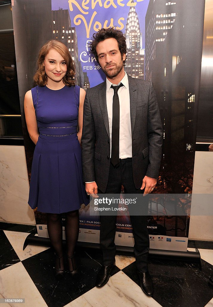 Actors Deborah Francois and Romain Duris attend the U.S. premiere of 'Populaire', hosted by The Film Society of Lincoln Center, UniFrance Films and The Weinstein Company at The Paris Theatre on February 28, 2013 in New York City.