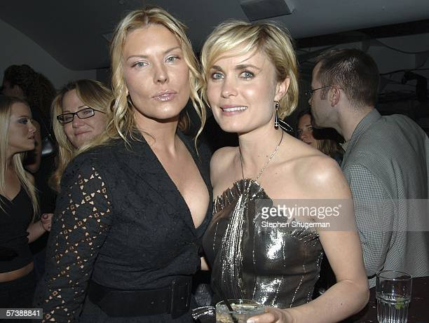 """Actors Deborah Kara Unger and Radha Mitchell attend the after party for the premiere of TriStar Pictures' """"Silent Hill"""" at the Egyptian Theatre on..."""