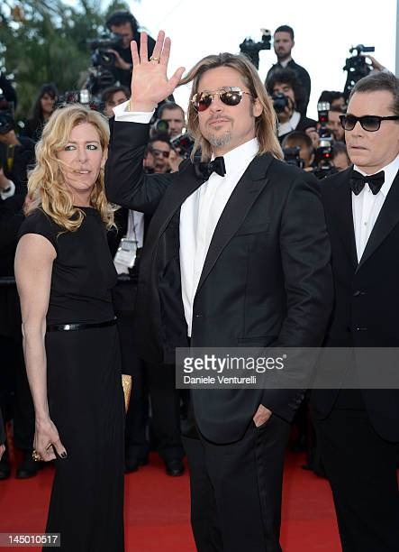 Actors Dede Gardner Brad Pitt and Ray Liotta attend the Killing Them Softly Premiere during the 65th Annual Cannes Film Festival at Palais des...