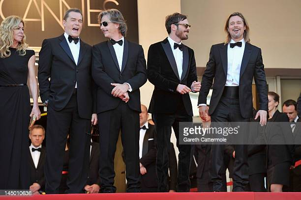 Actors Dede Gardner Ray Liotta Ben Mendelsohn Scoot McNairy and Brad Pitt attend the 'Killing Them Softly' Premiere during 65th Annual Cannes Film...
