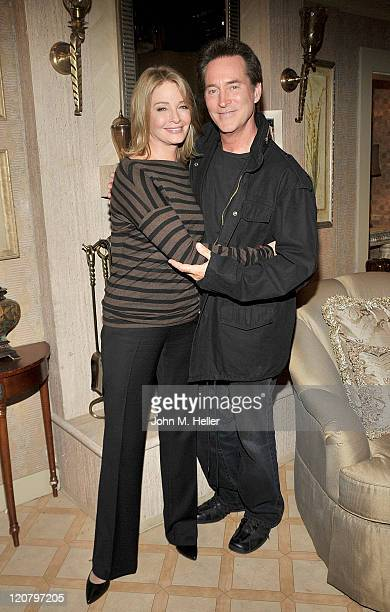 Actors Deidre Hall and Drake Hogestyn attend the press junket for 'Days Of Our Lives' on the 'Days Of Our Lives' sound stage at NBC Studios on August...