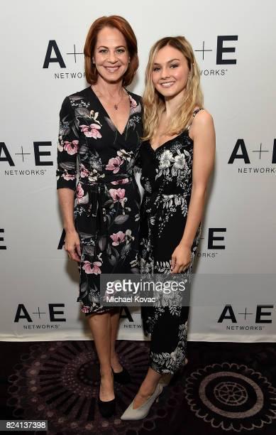 Actors Deirdre Lovejoy and Alana Boden of 'I Am Elizabeth Smart' at the A+E Networks portion of the 2017 Summer Television Critics Association Press...
