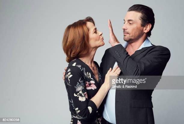 Actors Deirdre Lovejoy and Skeet Ulrich of Lifetime and A+E's 'I Am Elizabeth Smart' pose for a portrait during the 2017 Summer Television Critics...