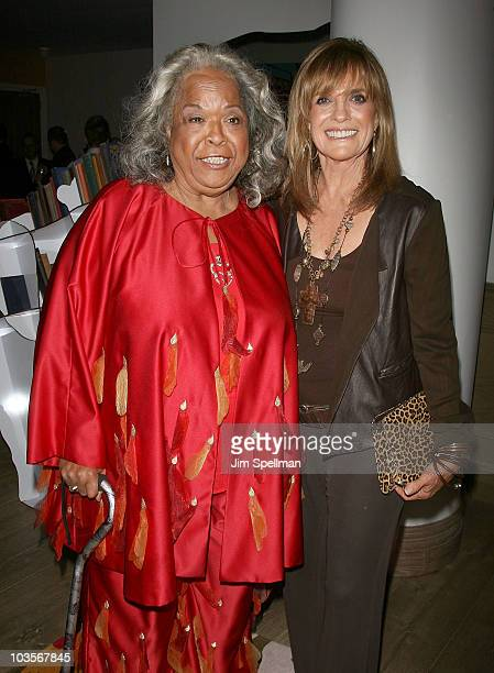 Actors Della Reese and Linda Gray attend the premiere after party for Expecting Mary at the Crosby Street Hotel on August 23 2010 in New York City