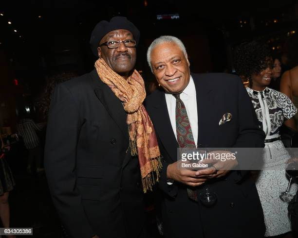 Actors Delroy Lindo and Ron Canada attend The Good Fight World Premiere After Party at Jazz at Lincoln Center on February 8 2017 in New York City