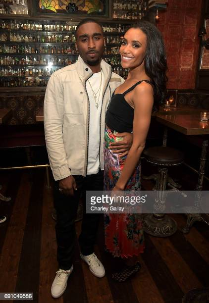 Actors Demetrius Shipp Jr and Annie Izolzeh attend Flaunt And David LaChapelle Celebrate The Cadence Issue Featuring Tupac Shakur On The Cover on May...