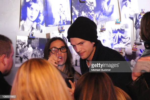 """Actors Demi Moore and Ashton Kutcher attend Bing Presents """"The Details"""" Official Cast Dinner and After-Party on January 24, 2011 in Park City, Utah."""