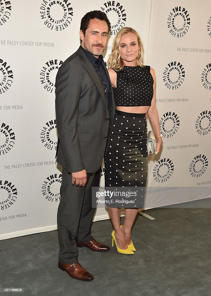 Actors Demian Bichir and Diane Kruger attend The Paley Center For Media Presents FX's 'The Bridge' at The Paley Center for Media on June 24, 2014 in Beverly Hills, California.