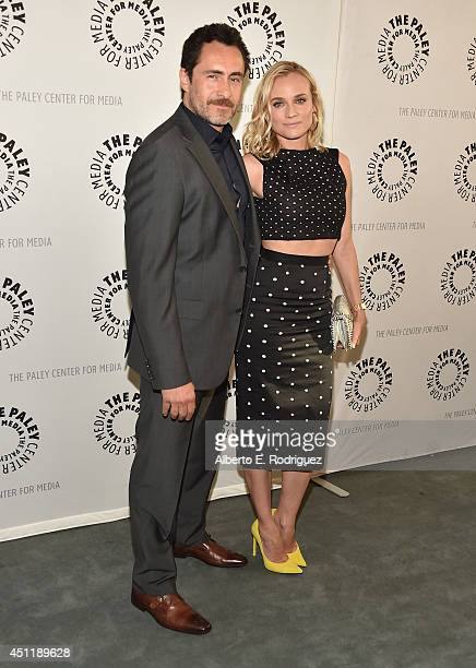 Actors Demian Bichir and Diane Kruger attend The Paley Center For Media Presents FX's 'The Bridge' at The Paley Center for Media on June 24 2014 in...
