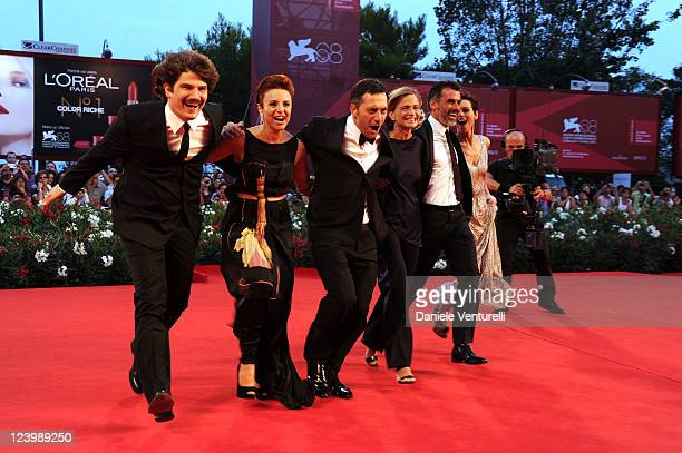 Actors Denis Fasolo Michela Cescon Filippo Timi director Cristina Comencini and actors Thomas Trabacch and Claudia Pandolfi attend the Quando la...