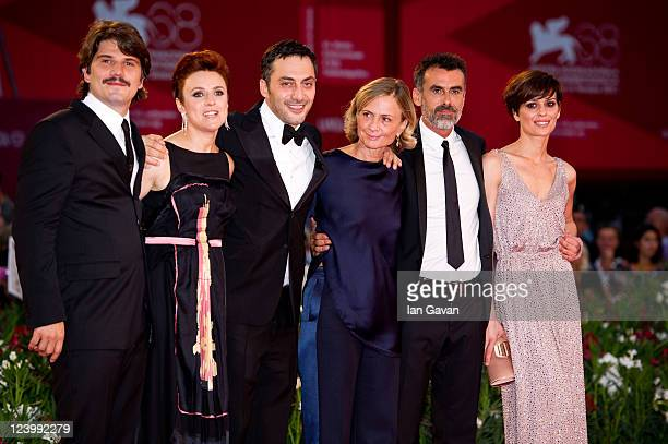 Actors Denis Fasolo Michela Cescon Filippo Timi director Cristina Comencini Thomas Trabacchi and Claudia Pandolfi attend the Quando La Notte premiere...