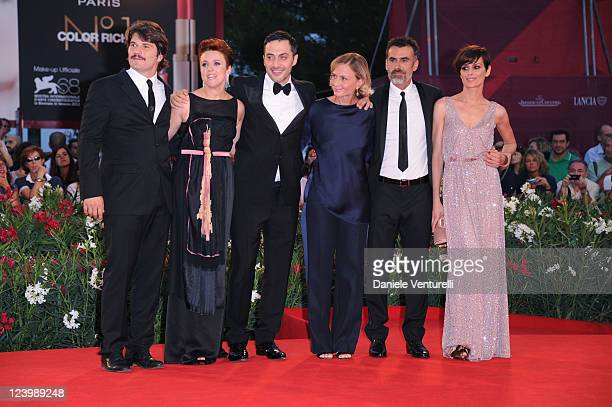 Actors Denis Fasolo Michela Cescon Thomas Trabacchi Claudia Pandolfi director Cristina Comencini and actor Filippo Timi attend the Quando la notte...