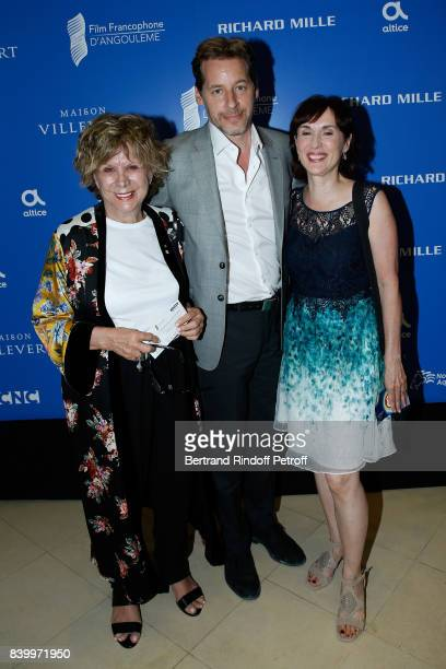 Actors Denise Filiatrault Gabriel Sabourin and Genevieve Rioux attend the 10th Angouleme FrenchSpeaking Film Festival Closing Ceremony on August 27...