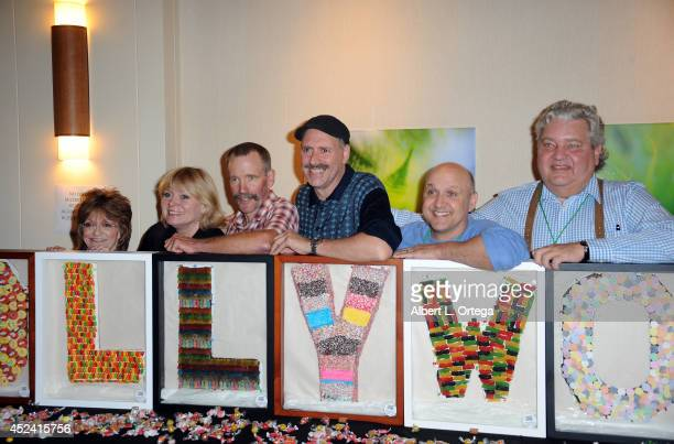 Actors Denise Nickerson Julie Dawn Cole Peter Ostrum Paris Themmen and Michael Bollner at the The Hollywood Show held at Westin Los Angeles Airport...