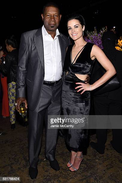 Actors Dennis Haysbert and Jaimie Alexander attend the Entertainment Weekly People Upfronts party 2016 at Cedar Lake on May 16 2016 in New York City